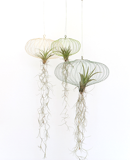 air planting – brass/green mix 3 pcs S ⊘15cm, M ⊘20cm, L ⊘26cm